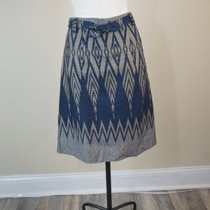 New, 100% Cotton A-Line Knee Skirts. Pattern Print